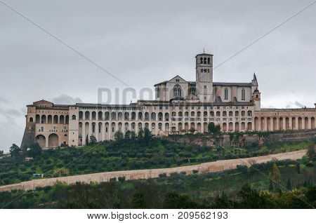 The Papal Basilica of St. Francis of Assisi is the mother church of the Roman Catholic Franciscan Order in Assisi Italy.