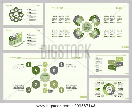 Infographic design set can be used for workflow layout, diagram, annual report, presentation, web design. Business and teamwork concept with process, flow, doughnut, pie, option and percentage charts.