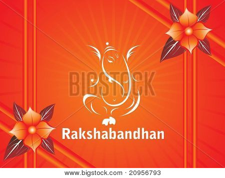 abstract rakshabandhan background, vector illustration