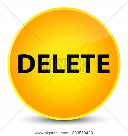 Delete Elegant Yellow Round Button