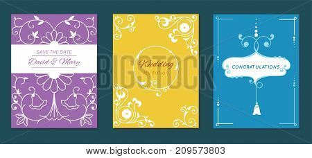 Congratulation graduation invintation anniversary paper layout certification celebration vector card illustration design template. Trendy graphic wedding print banner poster card cover invitation
