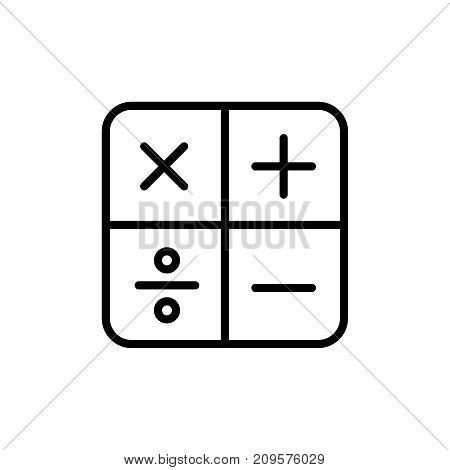 Modern calculation line icon. Premium pictogram isolated on a white background. Vector illustration. Stroke high quality symbol. Calculation icon in modern line style.