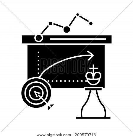 business tactics  icon, vector illustration, black sign on isolated background