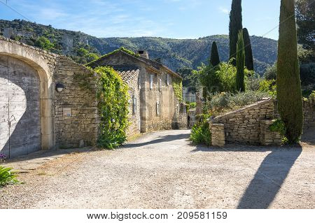 Street of town Oppede-le-Vieux in Provence France