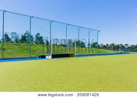 Hockey Goals Blue Sky