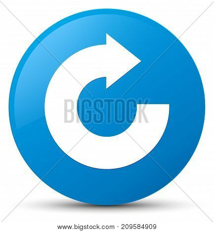 Reply Arrow Icon Cyan Blue Round Button