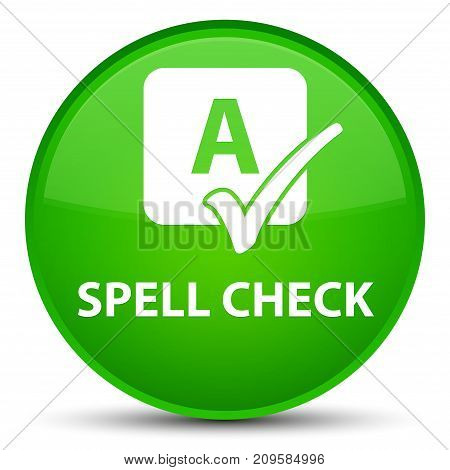 Spell Check Special Green Round Button