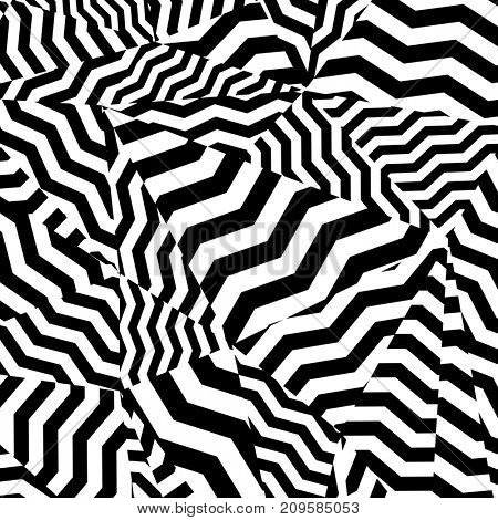 Black and white pattern, abstract geometric contrast background.
