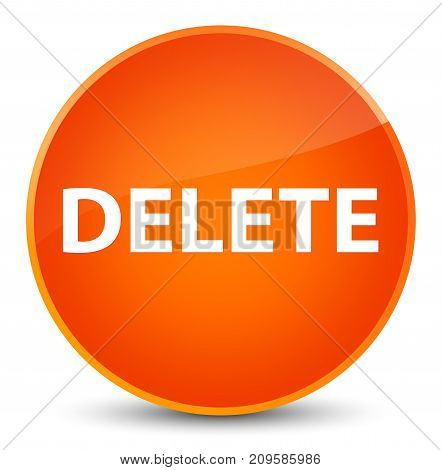 Delete Elegant Orange Round Button