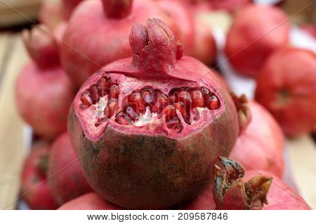Pomegranate On Market
