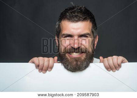 Guy On Grey Background.