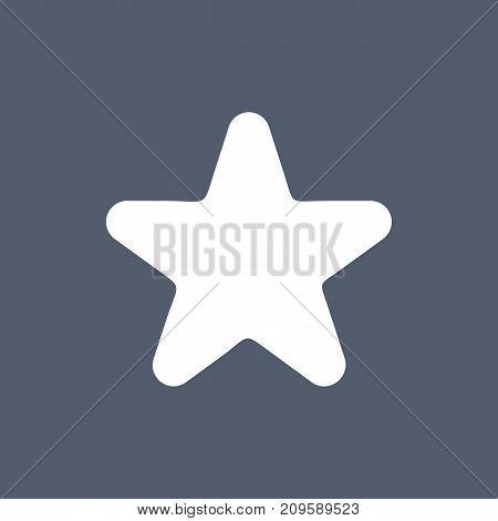 Star Vector Icon, Rank, Favorite Web Symbol