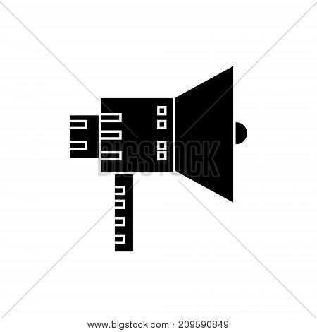 loudspeaker color  icon, vector illustration, black sign on isolated background