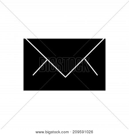mail  icon, vector illustration, black sign on isolated background