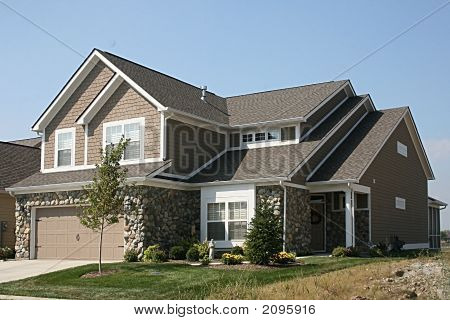 New House With Stone