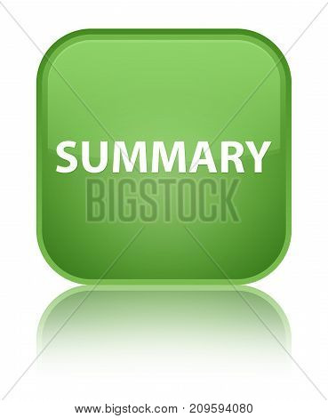 Summary Special Soft Green Square Button
