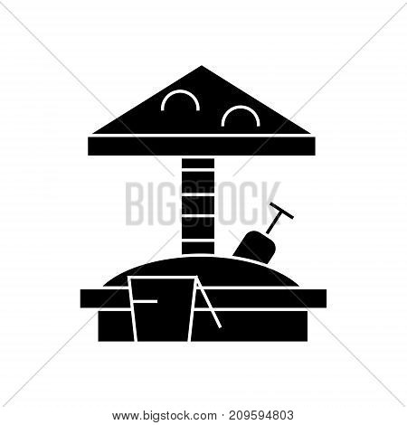 sandbox  icon, vector illustration, black sign on isolated background