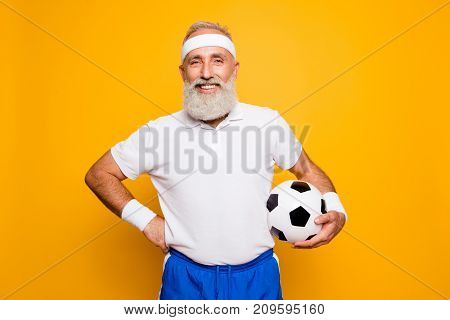Mature Modern Cool Grey Haired Funny Competetive Pensioner, Leader, Champion. Bodycare, Healthcare,