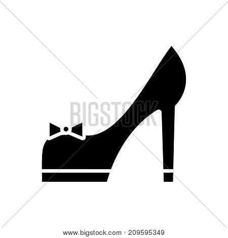 shoues bridal  icon, vector illustration, black sign on isolated background