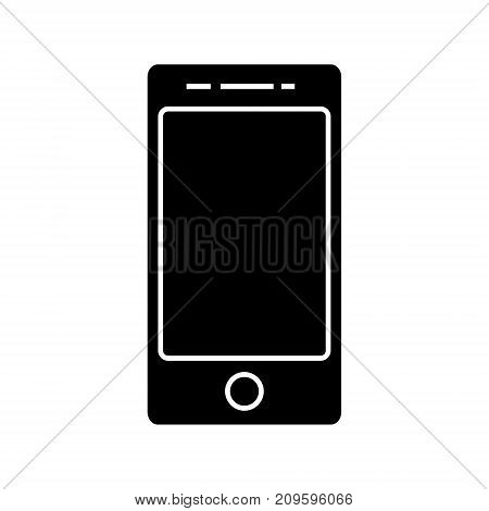 smartphone, cell  icon, vector illustration, black sign on isolated background