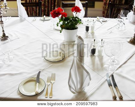 Private Dinner, Formal Place Setting, Seating for Dinner