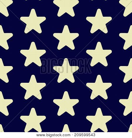 Star Vector Icon, Rank, Favorite Web Symbol Seamless Pattern