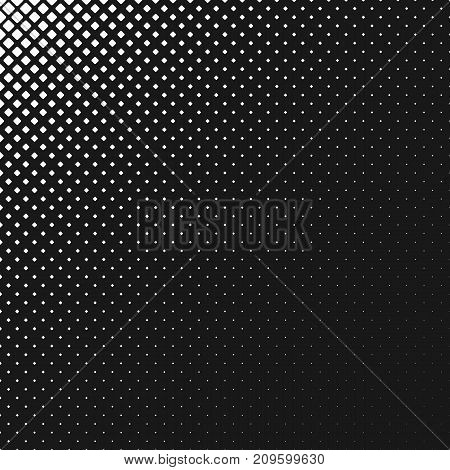 Abstract monochrome rounded square pattern background - vector graphic design from diagonal squares in varying sizes