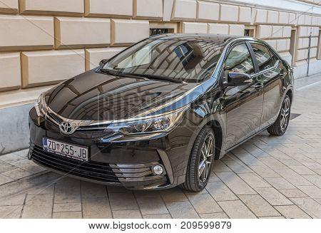 ZADAR, CROATIA - JULY 14, 2017: New Toyota Corolla in the street