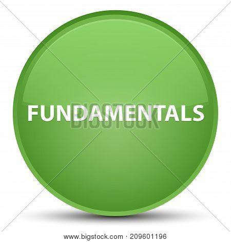 Fundamentals Special Soft Green Round Button