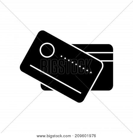 cards payment  icon, vector illustration, black sign on isolated background