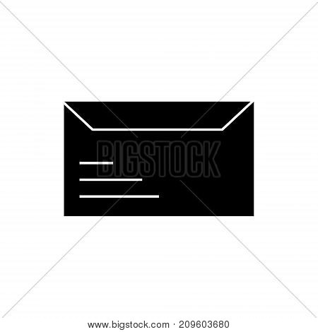 envelope  icon, vector illustration, black sign on isolated background