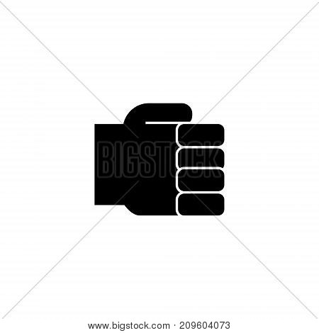 hand fist simple, holding hand  icon, vector illustration, black sign on isolated background
