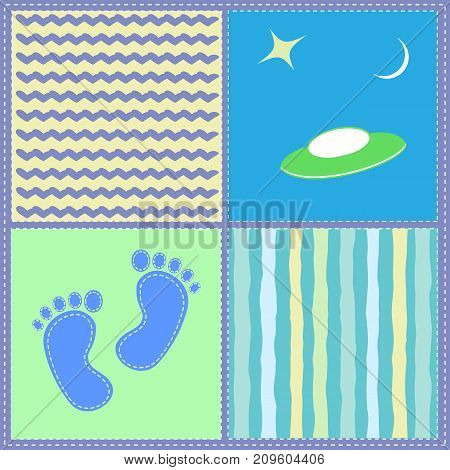Children's seamless pattern. For a boy. Vector illustration