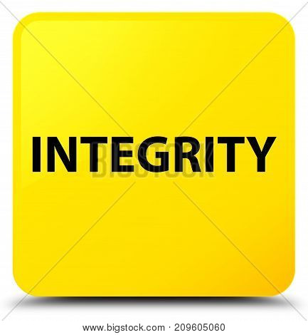 Integrity Yellow Square Button
