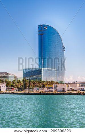 Hotel Vela On The Waterfront Of Barcelona, Catalonia, Spain
