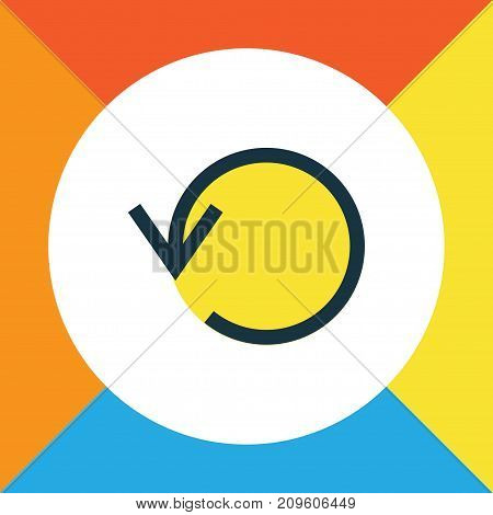 Premium Quality Isolated Refresh Element In Trendy Style.  Replay Colorful Outline Symbol.