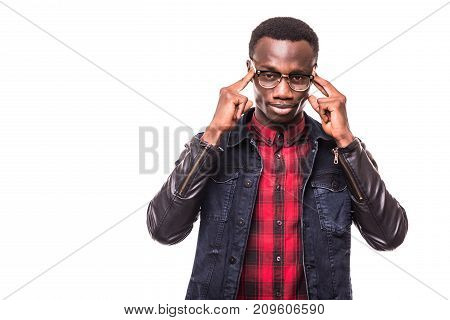 Closeup Portrait, Young Stressed Man, Student, Upset, Mad Employee, Hands On Head, Having Headache,