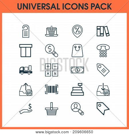 Ecommerce Icons Set. Collection Of Rich, Pannier, Delivery And Other Elements
