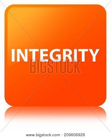 Integrity Orange Square Button