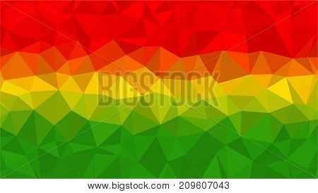 Bolivia low poly triangle style flag background