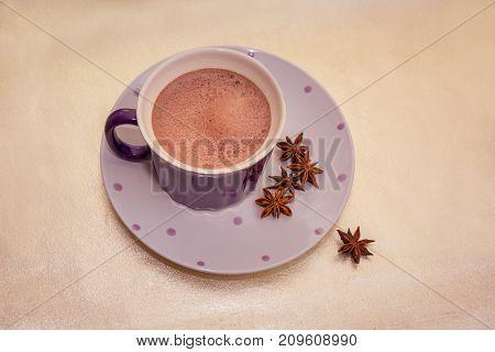 Cocoa In A Violet Mug