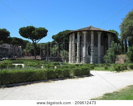 19.06.2017, Roma, Italy: Circular Temple Of Hercules Victor Formerly Temple Of Vesta. Built In 120 B