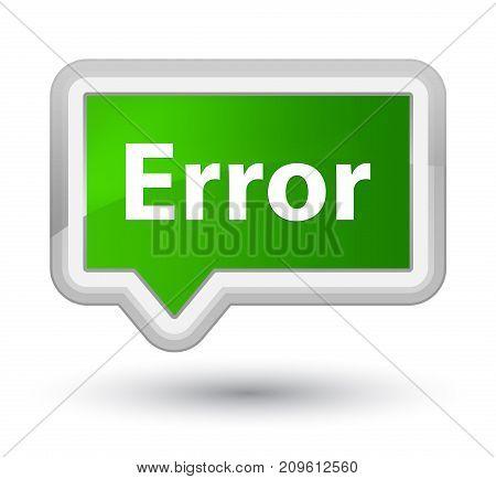 Error Prime Green Banner Button