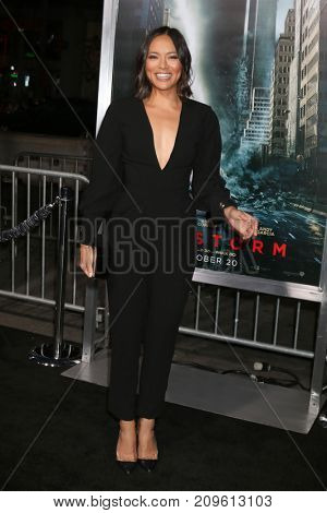 LOS ANGELES - OCT 16:  Sonya Balmores at the Geostorm Premiere at the TCL Chinese Theater IMAX on October 16, 2017 in Los Angeles, CA