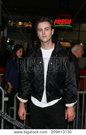 LOS ANGELES - OCT 16:  Sterling Beaumon at the Geostorm Premiere at the TCL Chinese Theater IMAX on October 16, 2017 in Los Angeles, CA