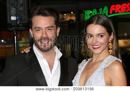 LOS ANGELES - OCT 16:  Juan Pablo Espinosa, Julieth Restrepo at the Geostorm Premiere at the TCL Chinese Theater IMAX on October 16, 2017 in Los Angeles, CA