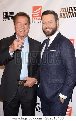 LOS ANGELES - OCT 14:  Armold Schwarzenegger, Taran Killam at the