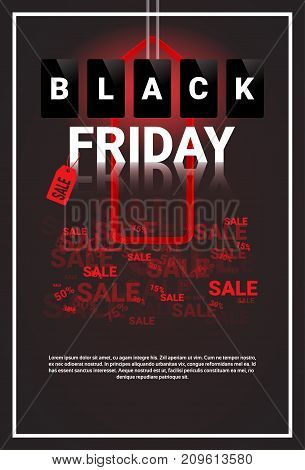 Black Friday Sale Banner With Copy Space Big Shopping Discount Concept Vector Illustration