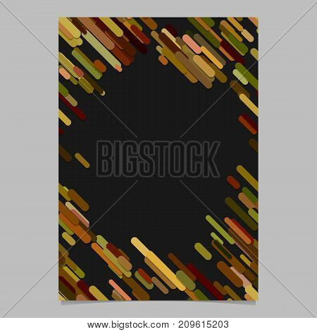 Colored chaotic diagonal rounded stripe pattern flyer template - digital vector brochure background design with stripes
