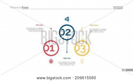 Business aspects circles slide template. Business data. Graph, diagram. Concept for templates, presentation, report. Can be used for topics like start-up, development strategy, teamwork
